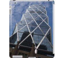 Lines, Triangles and Cloud Puffs - Hearst Tower in Manhattan, New York City, USA iPad Case/Skin