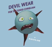Devil Wear distressed cartoon face Kids Tee