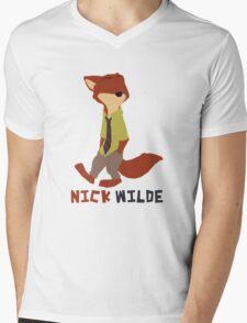 Nick Wilde - Minamalist Mens V-Neck T-Shirt