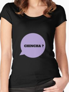 CHINCHA ? - BLACK Women's Fitted Scoop T-Shirt