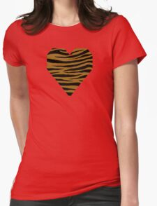 0289 Golden Brown Tiger Womens Fitted T-Shirt