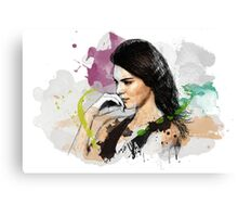 Kendall Jenner Painting Canvas Print