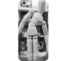 Wood Unisex Art Mannequin iPhone Case/Skin