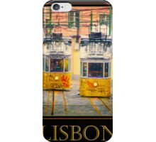 Gloria Funicular Lisbon Poster iPhone Case/Skin