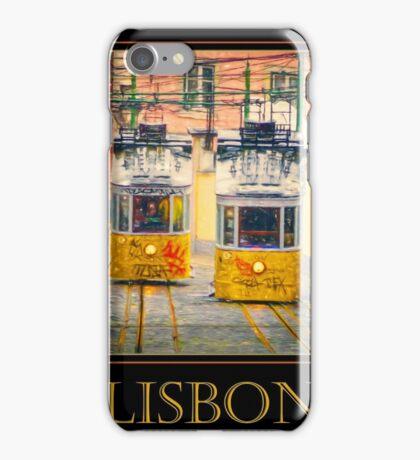 Gloria Funicular Lisbon Poster iPhone Case/Skin