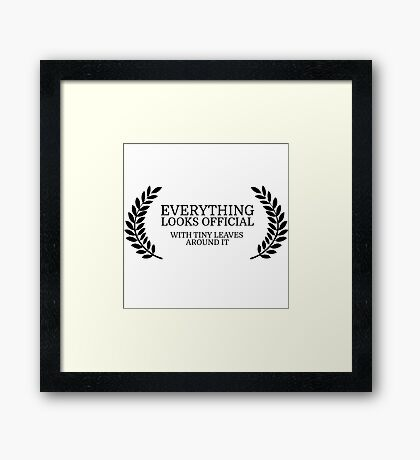 Festival Funny Movies Comedy Quote Clever Smart Framed Print