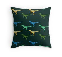 Raptors Everywhere Throw Pillow