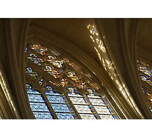 Glorious, Colorful Sunlight - Stained Glass Church Windows in a Royal Chapel in Paris, France Photographic Print