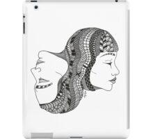 Gemini Twin Black and White Illustration iPad Case/Skin