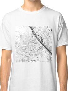 Vienna City Map Gray Classic T-Shirt