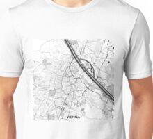 Vienna City Map Gray Unisex T-Shirt