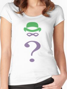 The riddler minimalist Women's Fitted Scoop T-Shirt