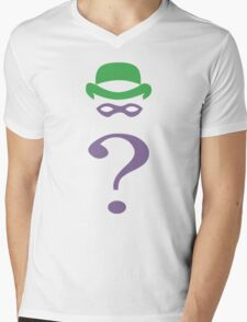 The riddler minimalist Mens V-Neck T-Shirt