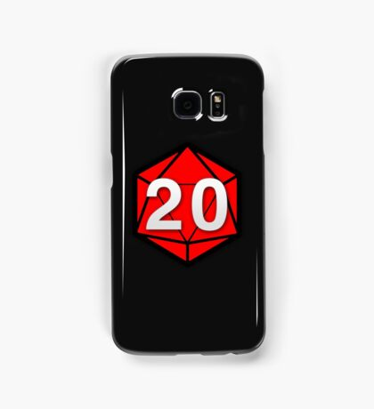 Natural 20 (Red Dice) - Critical Role Samsung Galaxy Case/Skin