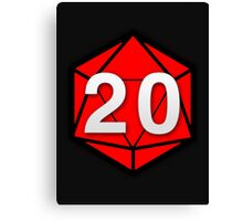 Natural 20 (Red Dice) - Critical Role Canvas Print
