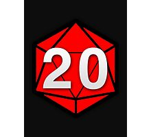 Natural 20 (Red Dice) - Critical Role Photographic Print