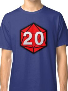 Natural 20 (Red Dice) - Critical Role Classic T-Shirt