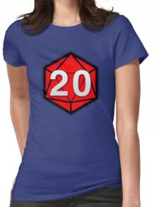 Natural 20 (Red Dice) - Critical Role Womens Fitted T-Shirt