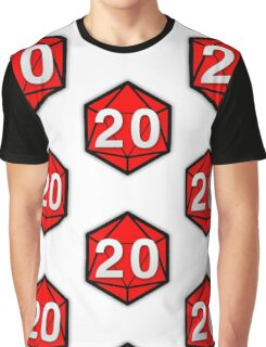 Natural 20 (Red Dice) - Critical Role Graphic T-Shirt