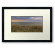 Through the dunes Framed Print
