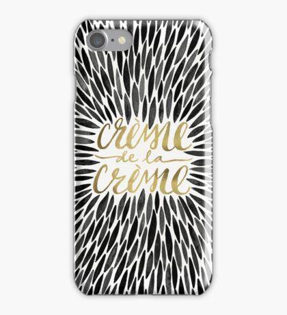 Crème de la Crème – Black & Gold iPhone Case/Skin