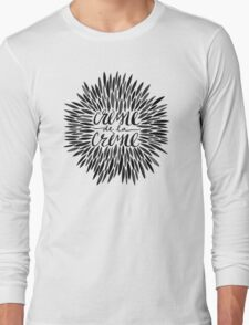 Crème de la Crème – Black & Gold Long Sleeve T-Shirt