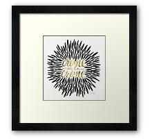 Crème de la Crème – Black & Gold Framed Print
