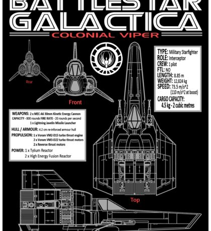 BATTLESTAR GALACTICA COLONIAL VIPER Sticker