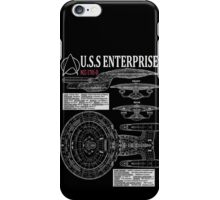 PICARDS ENTERPRISE NCC1701D  iPhone Case/Skin
