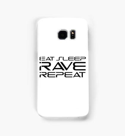 Eat Sleep Rave Repeat EDM electronic Music Samsung Galaxy Case/Skin