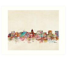 madison wisconsin skyline Art Print