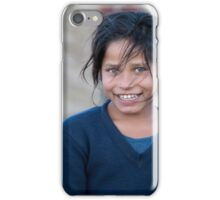 Happy Young Girl in Nepal Far West iPhone Case/Skin