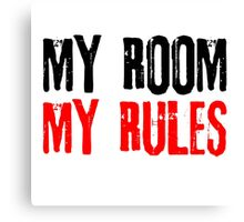 My Room My Rules Kids Punk Rock Mum Dad Family Grunge Canvas Print