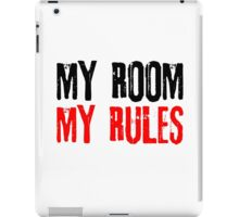 My Room My Rules Kids Punk Rock Mum Dad Family Grunge iPad Case/Skin