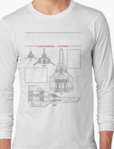BATTLESTAR GALACTICA COLONIAL VIPER Long Sleeve T-Shirt