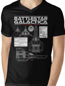 BATTLESTAR GALACTICA COLONIAL VIPER Mens V-Neck T-Shirt