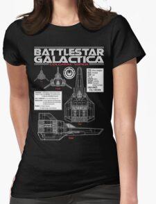 BATTLESTAR GALACTICA COLONIAL VIPER Womens Fitted T-Shirt