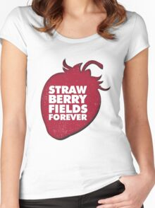 Strawberry Fields Forever T-shirt Women's Fitted Scoop T-Shirt
