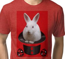 *•.¸♥♥¸.•* WHO PULLED WHO OUT OF THE HAT *•.¸♥♥¸.•* Tri-blend T-Shirt