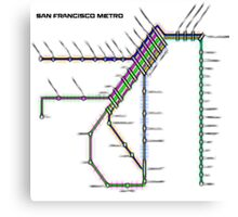 San Francisco Metro Canvas Print