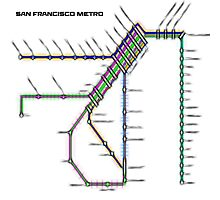 San Francisco Metro Photographic Print