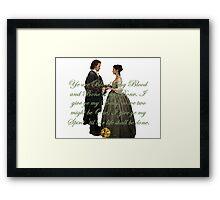 Outlander Wedding Vow Framed Print