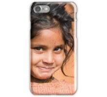 Young Girl in Nepal Far West iPhone Case/Skin