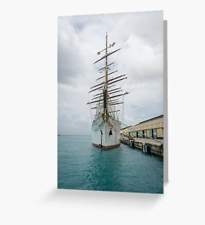 Traditional Sailing Ship, Sea Cloud Greeting Card