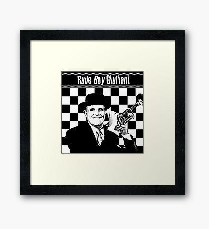 Rude Boy Giuliani Framed Print