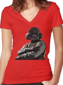 Rainbow Six Siege *Jager* Women's Fitted V-Neck T-Shirt