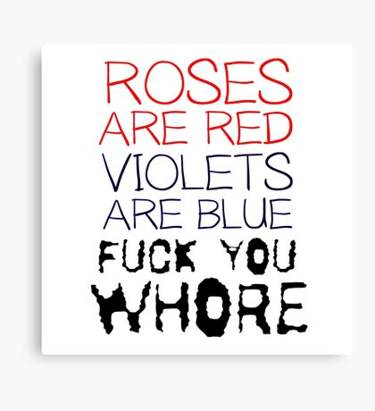 Funny Mens Humour Comedy Ironic Crass Fuck Canvas Print