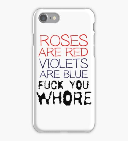 Funny Mens Humour Comedy Ironic Crass Fuck iPhone Case/Skin