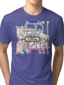 München U-Bahn S-Bahn Tri-blend T-Shirt