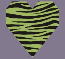 0298 Green-Yellow Tiger Kids Tee